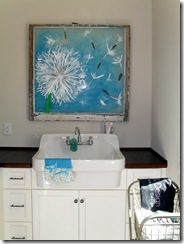 details sink in laundry room
