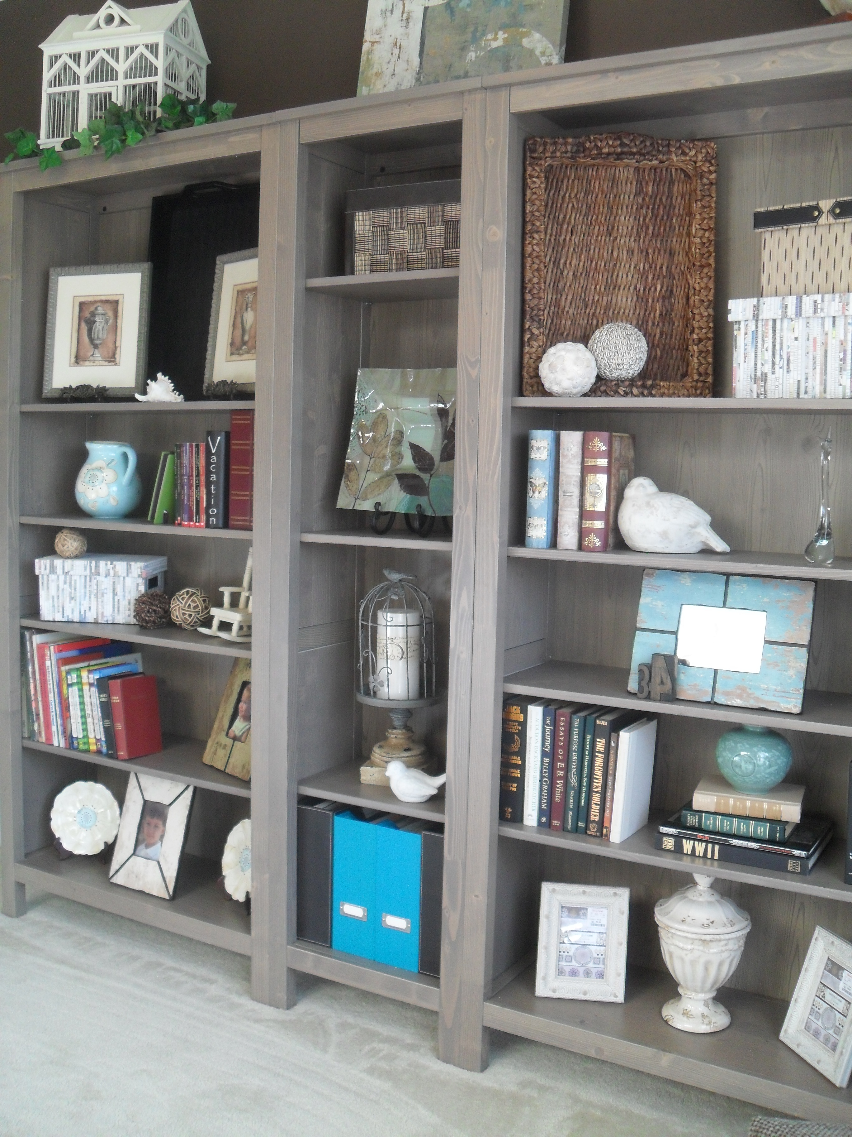 March 2012 house of 34 for Dining room bookcase ideas