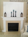 DIY Fireplace Backsplash
