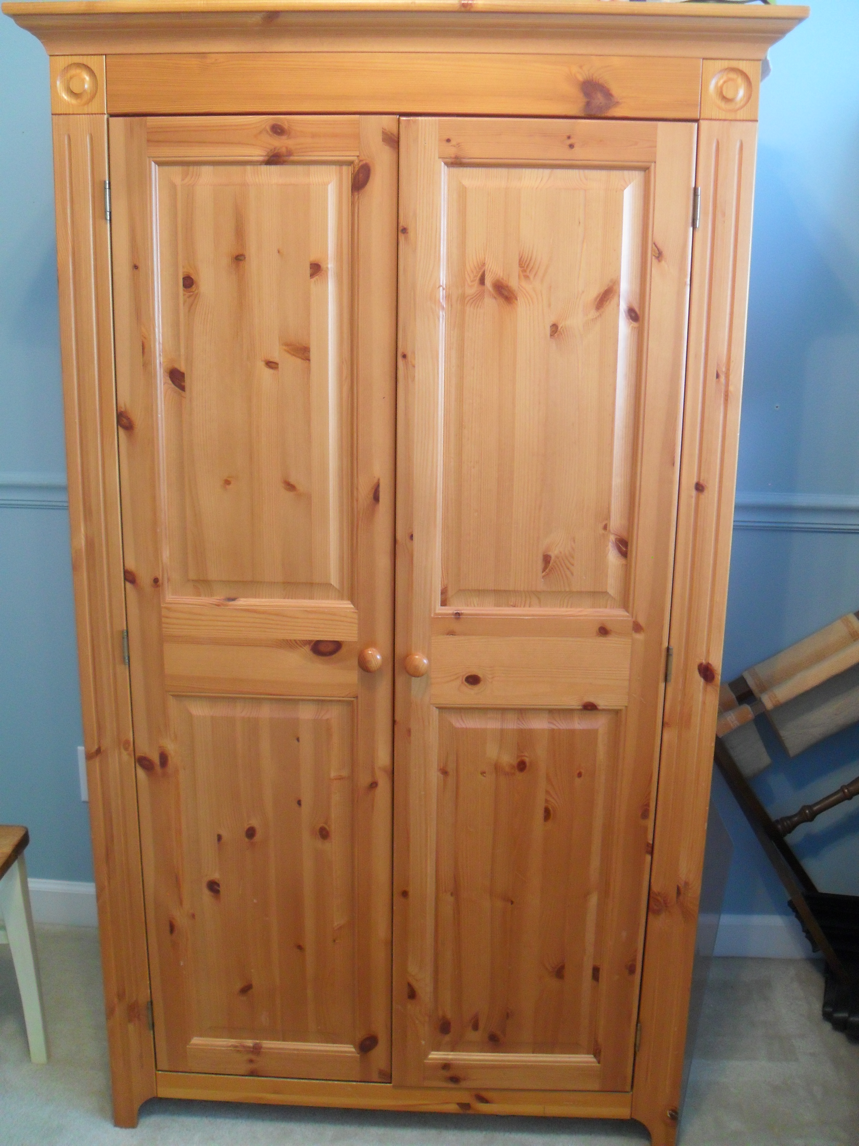 July 2012 house of 34 - Knotty pine cabinets makeover ...