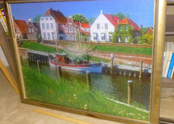 puzzle framed before